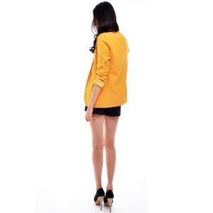 Jackets & Coats - Mustard Yellow Blazer